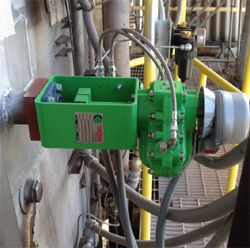 The Type K Series TK-2 Installed with WB-1000 Series Bearing Upgrade & limit switch module. The solenoid and limit switch conduit connection points for the utility team were evaluated in the design phase at Rotork Dallas.