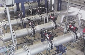 Consisting of three circulation systems, the EuroLoop plant for liquid meter calibration requires 43 pneumatic actuators