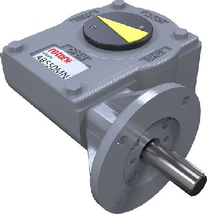 New gearbox for motorised quarter-turn applications