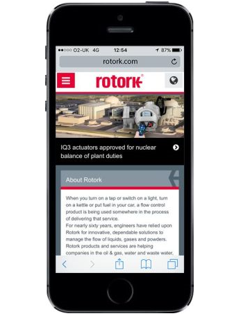 Rotork introduces mobile-optimised website