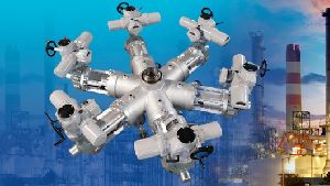 世界初の7方制御弁にロトルクのインテリジェントアクチュエータを設置