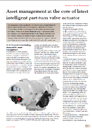 Asset Management at the core of latest intelligent part-turn valve actuator