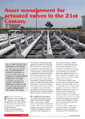 Asset management for actuated valves in the 21st Century