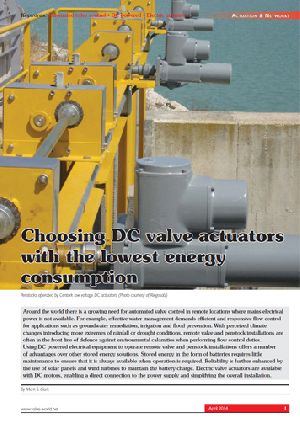 Choosing DC valve actuators with the lowest energy consumption