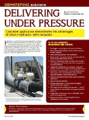 Delivering Under Pressure