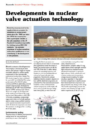 Developments in nuclear valve actuation technology
