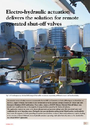 Electro-hydraulic actuation delivers the solution for remote operated shut-off valves