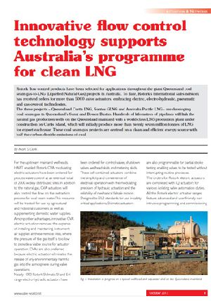 Innovative flow control technology supports Australia's programme for clean LNG