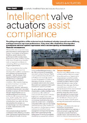 Intelligent valve actuators assist compliance