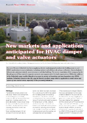 New markets and applications anticipated for HVAC damper and valve actuators