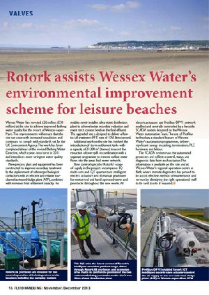 Rotork assists Wessex Water's environmental improvement scheme for leisure beaches