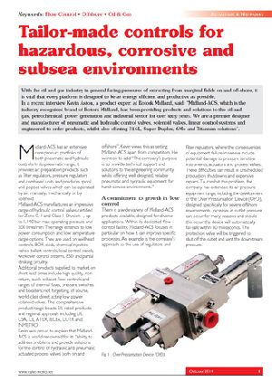 Tailor-made controls for hazardous, corrosive and subsea environments