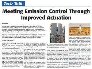 Meeting Emission Control Through Improved Actuation