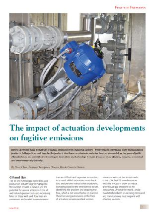 The impact of actuation developments on fugitive emissions