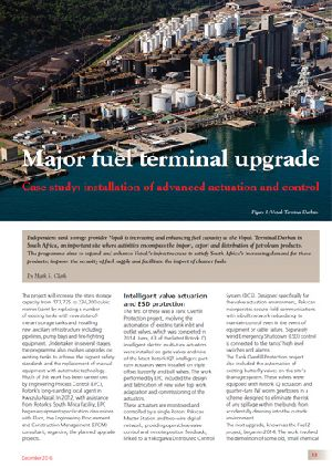 Major fuel terminal upgrade