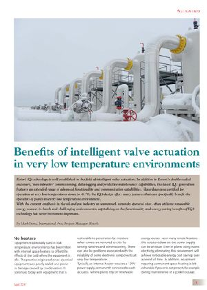 Benefits of intelligent valve actuation in very low temperature environments