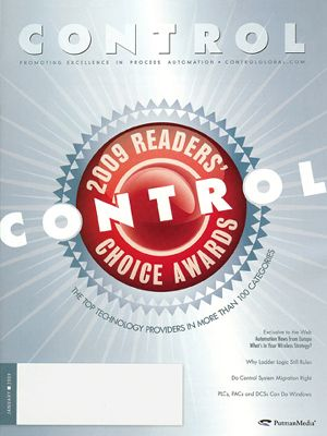 Rotork wins Control magazine's 2009 Readers' Choice Award