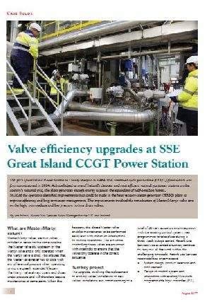 Valve Efficiency Upgrades at SSE Great Island CCGT Power Station