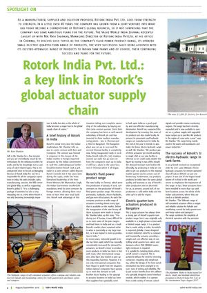 Spotlight on Rotork India