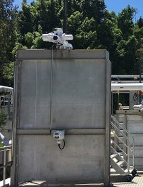 Electric actuators with Remote Hand Stations (RHS) installed at sewage treatment plant