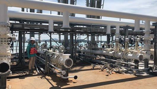 マレーシアの石油貯蔵・分配プロジェクトにてロトルクの制御ネットワークと電動アクチュエータを採用