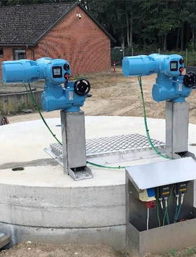Danish wastewater plant opts for actuator automation using CK Centronik modular actuators