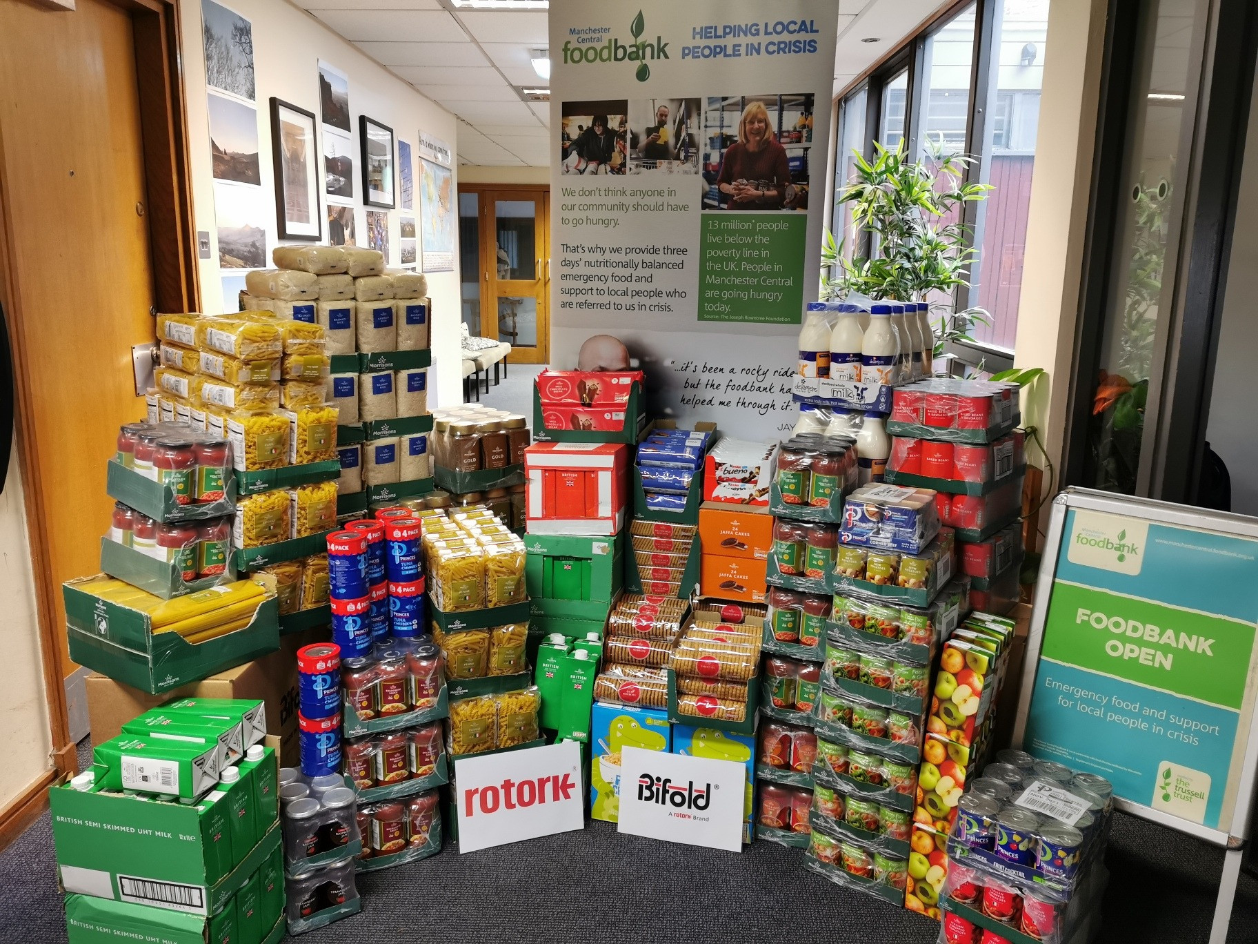Rotork supports Manchester Central Foodbank