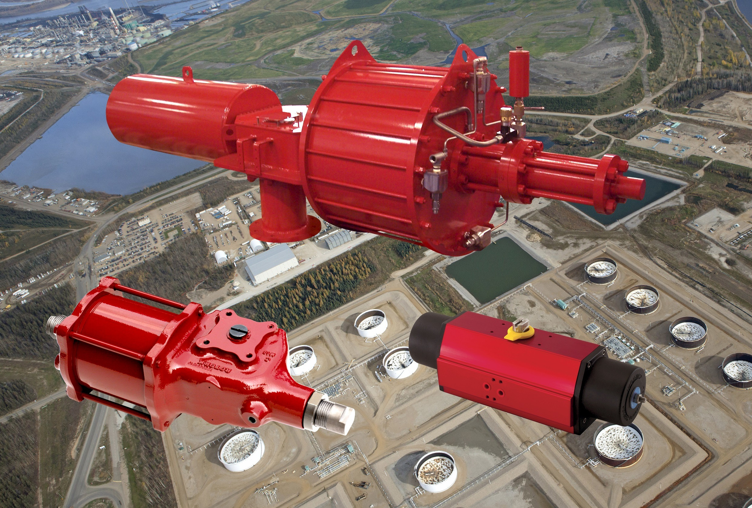 Rotork pneumatic actuators installed on Canadian well pads