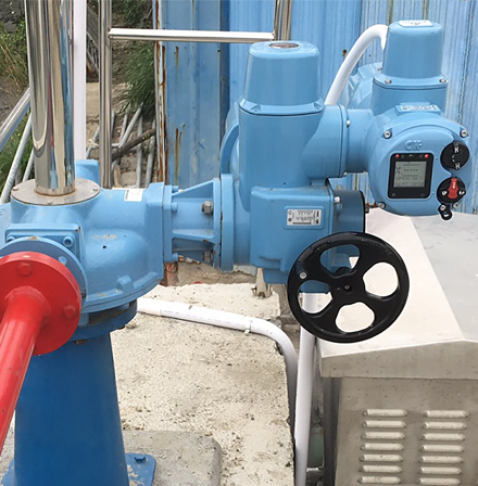 Over 700 CK modular actuators installed at Chinese wastewater treatment plant