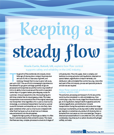 How Flow Control Supports Safety and Reliability in the LNG Industry