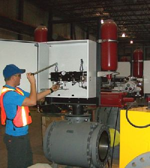 Remote Canadian destination for Rotork pipeline valve actuators