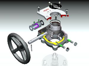 Robust and compact manual gear operators for quarter-turn valves