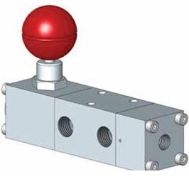 Distributeur piloté à réarmement manuel avec système de verrouillage