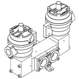 1650 Series Double Pilot Solenoid Operated