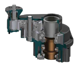 ISN Nuclear Multi-Turn Spur Gearbox