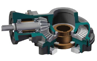 IBN Nuclear Multi-Turn Bevel Gearbox