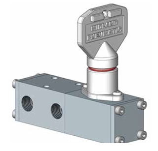 1500 Series Spool Valve Key Operated 2 Position Positive