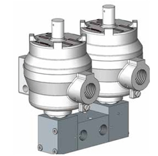 1500 Series Double Pilot Solenoid Operated Spool Valve