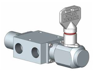 1600 Series Spool Valve, Key Operated, 2 Position Positive / Key Operated Spring Return