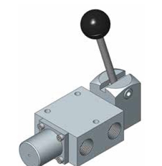 1600 Series Spool Valve, Lever Operated, Spring Return