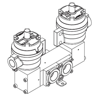 1650 Series Spool Valve, Double Pilot Solenoid Operated