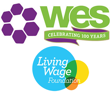 WES/Living Wage logos