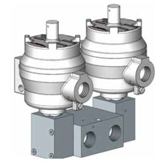 1600 Series Double Pilot Solenoid Operated Spool Valve